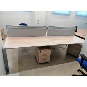 Compacto de mesas haya.